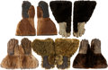 Arms Accessories, Animal Hide Gauntlets: A Most Unusual Collection of Five Pairs....(Total: 6 Items)
