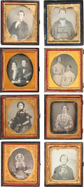 Photography:Daguerreotypes, Sixth Plate Daguerreotypes.... (Total: 8 Items)