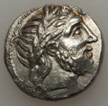 Ancients:Celtic, Ancients: LOWER DANUBE. Imitating Philip II of Macedon. Ca. 3rdcentury BC. AR tetradrachm (11.83 gm)....