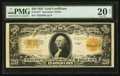 Large Size:Gold Certificates, Fr. 1187* $20 1922 Gold Certificate PMG Very Fine 20 Net.. ...