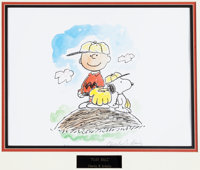Charles Schulz Play Ball Peanuts Charlie Brown and Snoopy Signed Limited Edition Lithograph Print #PP (Printer's P