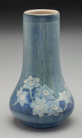 Ceramics & Porcelain, American:Modern  (1900 1949)  , Newcomb College Semi-Matte Glazed Ceramic Gourd Vase by AlmaMason . Potted by Joseph Meyer. Circa 1915. Incised...