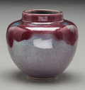 Ceramics & Porcelain, American:Modern  (1900 1949)  , Late Newcomb College High Glazed Copper Red Cabinet Vase by LeonaNicholson. Circa 1928. Incised NC, LN. Ht. 3-1/2 in.. ...