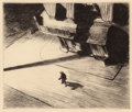 Fine Art - Work on Paper:Drawing, Edward Hopper (American, 1882-1967). Night Shadows, 1921.Etching. 6-7/8 x 8-1/8 inches (17.5 x 20.6 cm). Ed. approximat...