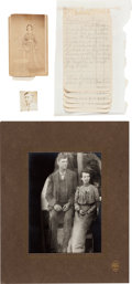 Miscellaneous:Ephemera, Handwritten Account of Run-in with the James-Younger Gang....