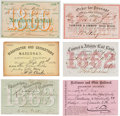 Political:Small Paper (pre-1896), Gideon Welles: Civil War Era Railroad Passes.... (Total: 6 Items)