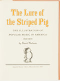 Books:Music & Sheet Music, David Tatham. SIGNED/LIMITED. The Lure of the Striped Pig. Barre: Imprint Society, 1973....