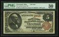 National Bank Notes:Ohio, Cleveland, OH - $5 1882 Brown Back Fr. 469 The Euclid Avenue NB Ch. # 3545. ...