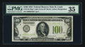 Small Size:Federal Reserve Notes, Fr. 2152-H* $100 1934 Light Green Seal Federal Reserve Note. PMG Choice Very Fine 35.. ...