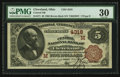 National Bank Notes:Ohio, Cleveland, OH - $5 1882 Brown Back Fr. 471 The Central NB Ch. # (M)4318. ...