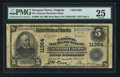 National Bank Notes:Virginia, Newport News, VA - $5 1902 Plain Back Fr. 606 The NationalMechanics Bank Ch. # 11364. ...