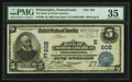 National Bank Notes:Pennsylvania, Philadelphia, PA - $5 1902 Date Back Fr. 590 The Bank of NorthAmerica Ch. # (E)602. ...