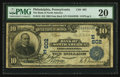 National Bank Notes:Pennsylvania, Philadelphia, PA - $10 1902 Date Back Fr. 616 The Bank of NorthAmerica Ch. # (E)602. ...