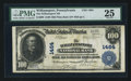 National Bank Notes:Pennsylvania, Williamsport, PA - $100 1902 Plain Back Fr. 698 The Williamsport NBCh. # 1464. ...
