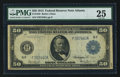 Fr. 1045 $50 1914 Federal Reserve Note PMG Very Fine 25