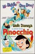 "Movie Posters:Animation, Pinocchio (Buena Vista, R-1962). One Sheet (27"" X 41""). Animation....."