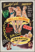"Movie Posters:Exploitation, Mad Youth: Girls of the Underworld/Probation Combo (R-1940s). One Sheet (27"" X 41""). Exploitation.. ..."
