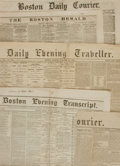 Miscellaneous:Newspaper, [Prince of Wales]. Group of Four Boston Newspapers. BostonEvening Transcript. October 19, 1860. Daily Eveni...