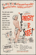"Movie Posters:Sexploitation, Tonight for Sure (Premier Pictures, 1962). One Sheet (27"" X 41"").Sexploitation.. ..."