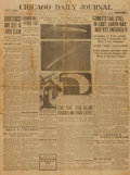 Miscellaneous:Newspaper, [Haley's Comet]. Newspaper. Chicago Daily Journal. Vol. 67,No. 29. May 20, 1910....