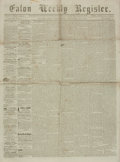 Miscellaneous:Newspaper, [Reconstruction]. Newspaper. Eaton Weekly Register. Vol. 26,No. 8. January 16, 1868....