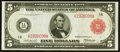 Fr. 832b $5 1914 Red Seal Federal Reserve Note Very Fine-Extremely Fine