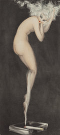 Prints:European Modern, Louis Icart (French, 1888-1950). Illusion, 1940. Limitededition etching. 19-5/8 x 9 inches (49.8 x 22.9 cm). Signed to ...