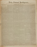 Miscellaneous:Newspaper, [Admission of California to the Union]. Newspaper. DailyNational Intelligencer. Vol. 38, No. 11,689. August 17, 1...