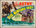 "Movie Posters:Western, Blue Montana Skies (Republic, 1939). Half Sheet (22"" X 28"") StyleB. Western.. ..."