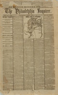 Miscellaneous:Newspaper, [Lincoln Assassination]. Newspaper. The PhiladelphiaInquirer. April 18, 1865....