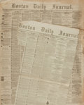 Miscellaneous:Newspaper, [Fall of Charleston]. Newspaper. Boston Daily Journal. Vol.32, No. 9878. February 21, 1865....