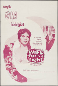 """Wife for a Night & Other Lot (Edward Harrison, 1958). One Sheets (2) (27"""" X 41"""", 28"""" X 41""""). For..."""
