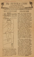 Miscellaneous:Newspaper, [World War II]. Naval Newspaper. The Tutuila Lyre. Vol . 13,No. 13. September 13, 1944....