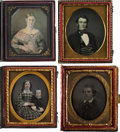Photography:Daguerreotypes, Sixth Plate Daguerreotypes.... (Total: 6 Items)