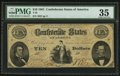 Confederate Notes:1861 Issues, T25 $10 1861 PF-2 Cr. 169.. ...