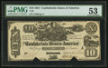 Confederate Notes:1861 Issues, T29 $10 1861 PF-1 Cr. 237.. ...