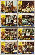 "Movie Posters:Adventure, Journey to the Lost City (American International, 1960). Lobby CardSet of 8 (11"" X 14""). Adventure.. ... (Total: 8 Items)"