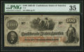 Confederate Notes:1862 Issues, Red Date T41 $100 1862 PF-25 Cr. 318A.. ...