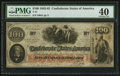 Confederate Notes:1862 Issues, Red Date T41 $100 1862 PF-12 Cr. 317A.. ...