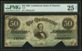 Confederate Notes:1862 Issues, T50 $50 1862 PF-18 Cr. 361A.. ...