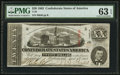 Confederate Notes:1863 Issues, T58 $20 1863 PF-26 Cr. UNL.. ...