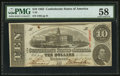 Confederate Notes:1863 Issues, T59 $10 1863 PF-7 Cr. 433.. ...