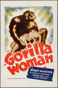 "Movie Posters:Bad Girl, Gorilla Woman (United Screen Associates, 1937). One Sheet (27"" X41""). Bad Girl.. ..."