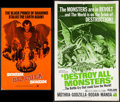 """Movie Posters:Science Fiction, Destroy All Monsters & Others Lot (American International,1969). Cut Pressbooks (11) (Multiple Pages, 8.5"""" X 14"""" & 11"""" X17... (Total: 11 Items)"""