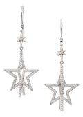 Estate Jewelry:Earrings, Diamond, White Gold Earrings, Patricia Makena. ...