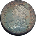 Bust Quarters: , 1818 25C MS63 NGC. B-4, R.2. Die State VII, which Breen considered very rare. The obverse displays bold die cracks across t...
