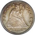Proof Seated Quarters: , 1874 25C Arrows PR64 PCGS. A scarce two-year proof type, one ofjust 700 pieces minted. Drab brown-gray toning reveals stro...