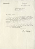 "Autographs:Non-American, Carl Jung Typed Letter Signed ""C. J. Jung"". One page, in German, 8"" x 11.25"", personal letterhead, Zurich, December 9, 1..."