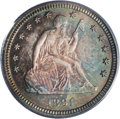 Proof Seated Quarters: , 1891 25C PR66 PCGS. Deep and natural toning is noted on both sides,totally consistent with a coin that has never been dipp...