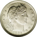 Barber Quarters: , 1896-O 25C MS64 NGC. A scarce and highly respected date in theBarber quarter series, the 1896-O is all too often seen weak...